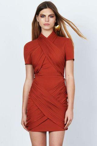 RESOURCE MINI DRESS - TOBACCO
