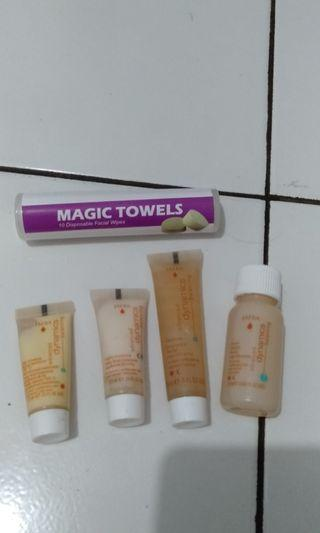 Kemasan mini jafra balancing untuk kulit normal kombinasi free magic towels