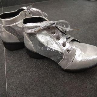 Metallic silver Ankle boots