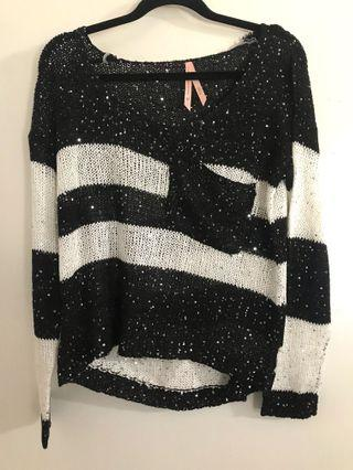 Sequin knit top M