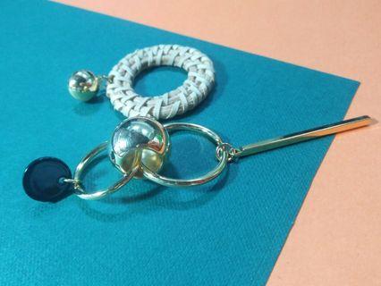 🚚 竹籐造型耳環 (耳針式)