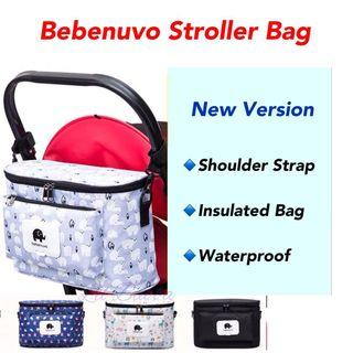 [ Ready Stock] Insulated Bebenuvo Stroller Organizer with Shoulder Straps (New Version)
