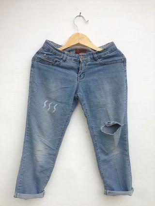 Celana Jeans ripped jeans boyfriend