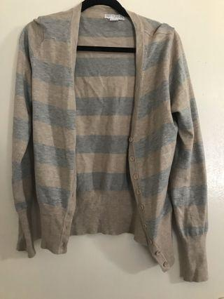 Grey/beige cardigan L