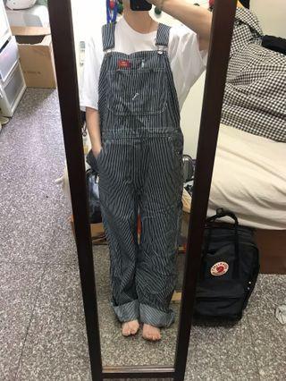 Dickies條紋吊帶褲