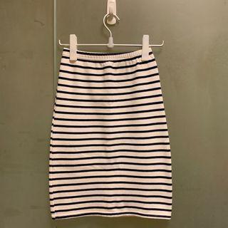 🚚 《二手》日系條紋合身裙