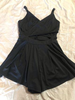 Black cross over playsuit 12
