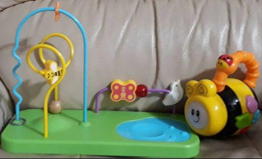 FREE POST Beads Toy and Shelcore Musical Bee Combo