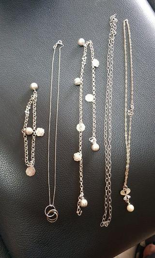 925 Silver Leg Bracelet Necklace