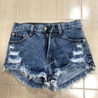 Instock Acid Washed Denim Shorts