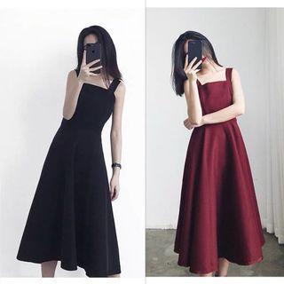Plus Size Sleeveless Flare dress