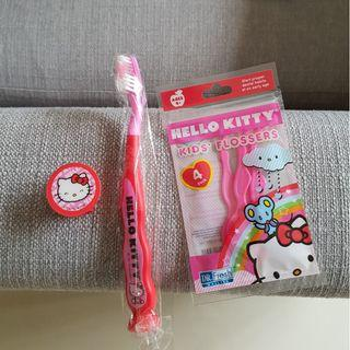 Hello Kitty toothbrush and kids flossers - new