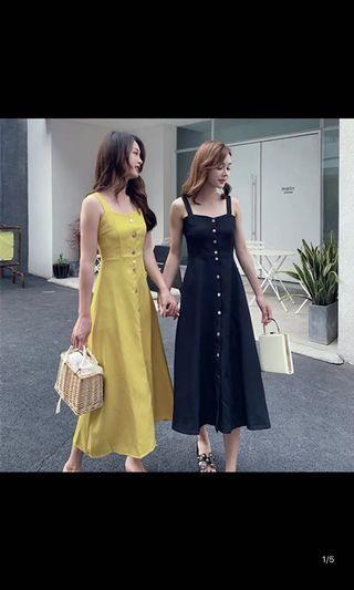 🚚 Plus Size Button Down Sleeveless Flare Dress