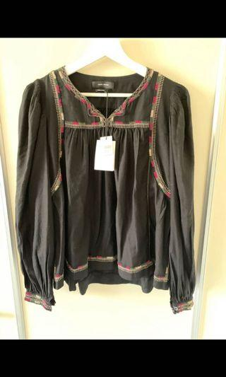 Isabel Marant 黑色民族風上衣