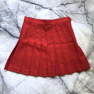 American Apparel red tennis skirt size XS
