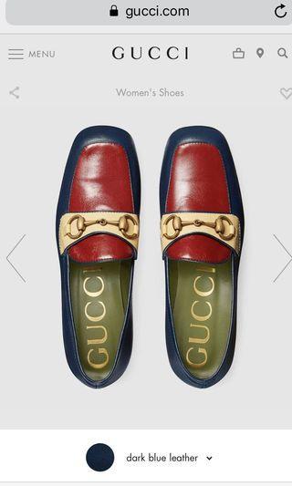 Gucci 新款 leather platform loafer