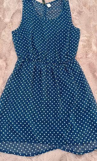 Forever21 polkadot navy dress