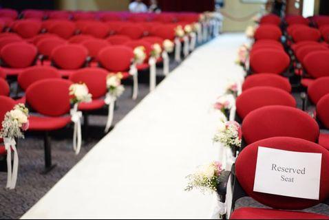 CHRISTIAN CHURCH PACKAGE / CALVARY BAPTIST CHURCH / HOTEL WEDDING FRESH FLOWERS VENUE DECOR / WEDDING TABLE CENTREPIECE