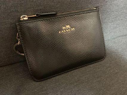 100% real Coach coin bag Wallet with key chain