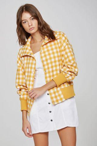 IDYLLIC BOMBER JACKET - YELLOW