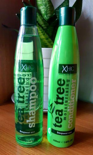 XHC TEA TREE  FOR CLEAN SCALP & BEAUTIFUL HAIR😊 MOISTURIZING SHAMPOO &  CONDITIONER (BIG SIZE) P198 EACH👍 MADE IN UK Good Reviews from Amazon.com Authentic/Original Money back if Proven Fake