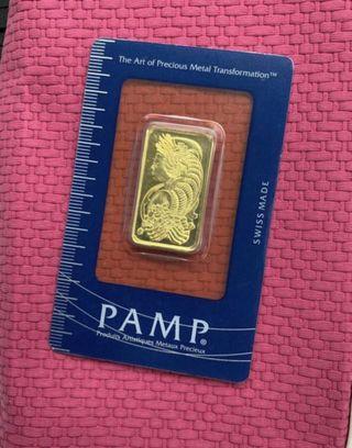 20 grams gold bar (Sealed, PAMP)