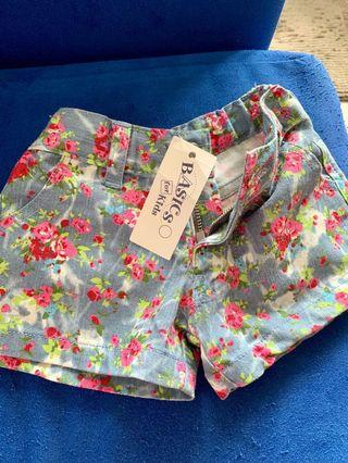 BN Floral Shorts for baby girls