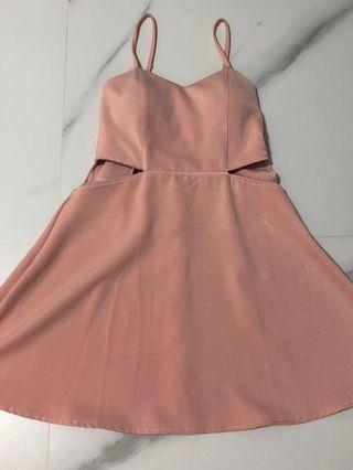 Pink Dress with padding