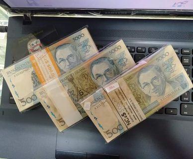 uang 5000 brasil 100 lembar ada 3 gepok