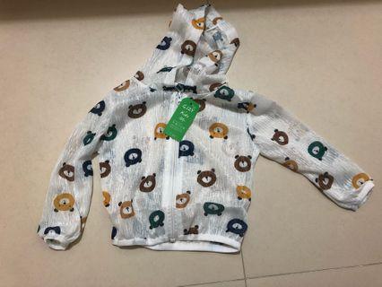 全新嬰兒 薄外套 80碼