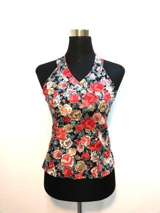 Nichii floral halter neck top