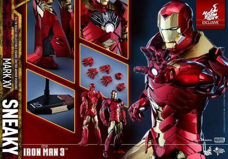 Hottoys Ironman Mark 15 Red Gold version