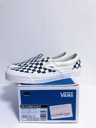 Vans Vault OG slip on us10 navy (old school sk8 era authentic)