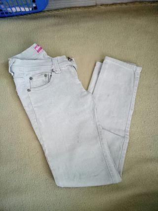 White Jeans by logo