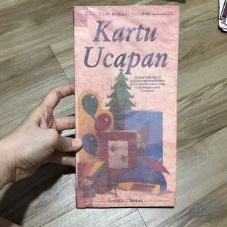 Buku kerajinan cara membuat KARTU UCAPAN. Tebal 120 halaman