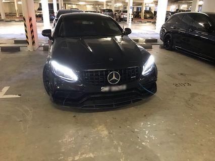 Fierce Mercedes C200 Coupe for short term rent