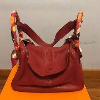 Authentic Hermes Lindy Rouge Garance 34