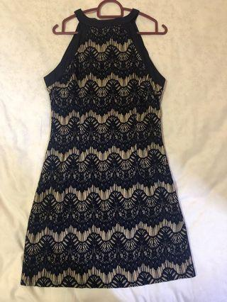 Something borrowed lace swift dress in navy