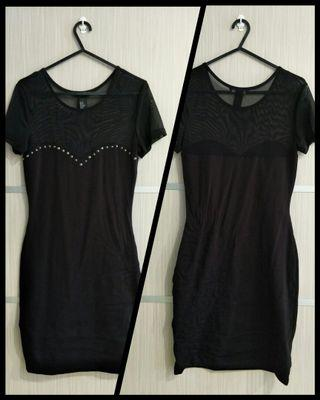 [Reduced to Clear] H&M Black Mesh Dress