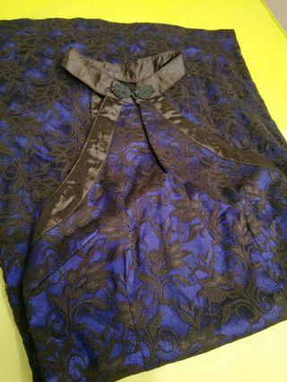 Blue lace qipao