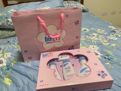 (全新)sebamed 施巴 粉紅花語禮盒 附提袋