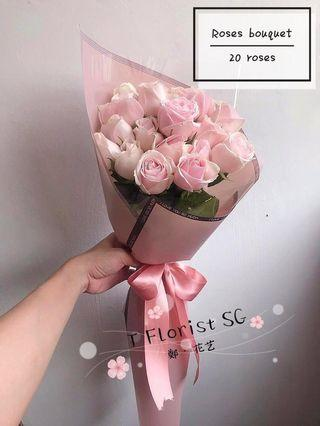 20 Roses Flower Bouquet