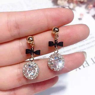 [PO] Bow & Rhinestone Earrings