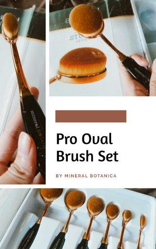 Pro Oval Brush Set by Mineral Botanica