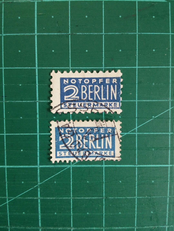 1948 德國 柏林郵政附加費 舊票兩套