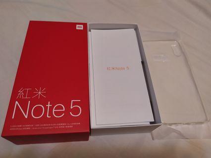 紅米note5藍色(4+64GB)8成5新!保固中買到賺到!!!