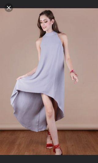 🚚 BNWOT Tinsel Rack Fish Tail Grey Dress S