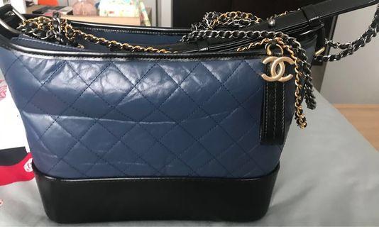 Chanel Gabrielle Medium size navy blue-black