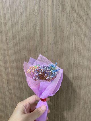 16cm mini dried baby breath flower bouquet
