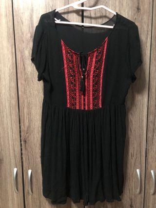 🚚 Black Bohemian Dress